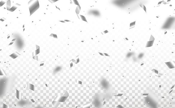 Silver confetti and pieces of serpentine