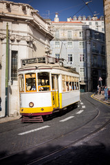 Tram in the Streets of Lisbon