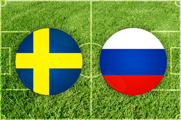 Illustration for Football match Sweden vs Russia