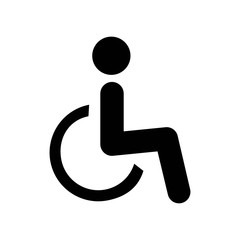 Handicap icon vector icon. Simple element illustration. Handicap symbol design. Can be used for web and mobile.
