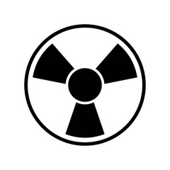 Toxic symbol icon vector icon. Simple element illustration. Toxic symbol symbol design. Can be used for web and mobile.