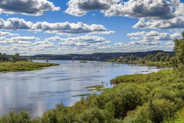Sukhona River in Totma, Russia