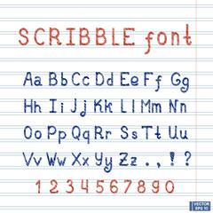 English alphabet font design.