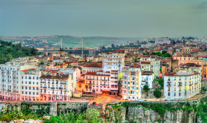 Wall Murals Algeria Skyline of Constantine at sunset. Algeria