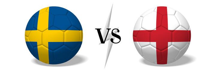 Soccerball concept - Sweden vs England
