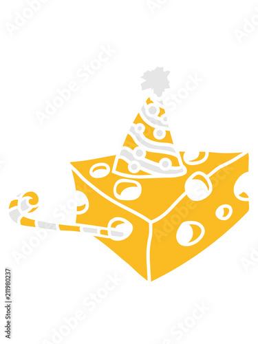 Kuchen Hut Trote Party Feiern Geburtstag Kase Locher Gauda Comic