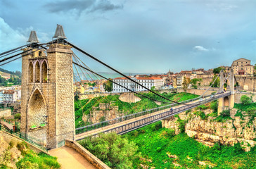Wall Murals Algeria Sidi M'Cid Bridge across the Rhummel River in Constantine, Algeria