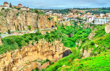 The Rhummel River Canyon in Constantine. Algeria