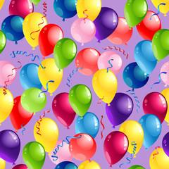 Balloons seamles card