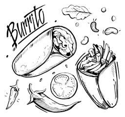 Sketch of burrito