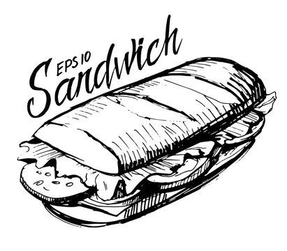 Sketch of sandwich
