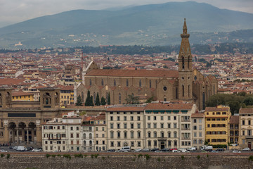 Cityscape view of Florence