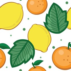 Lemon Orange Wallpaper Seamless