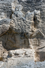 Medieval rock relief Madara Rider from the period of First Bulgarian Empire, UNESCO World Heritage List,  Shumen Region, Bulgaria