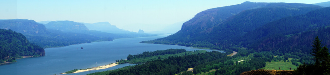 Steep cliffs of the Columbia Gorge