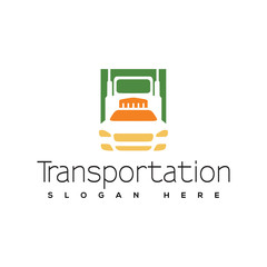 Transportation Car and Truck logo vector. Transportation logo template