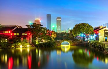 Historic scenic old town Wuzhen, China