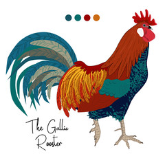 vector image of gallic rooster