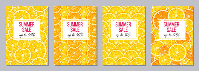 Summer Sale templates A6 size.