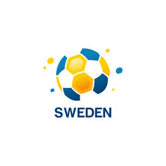 Abstract Sweden Football Logo designs vector, Soccer championship banner vector