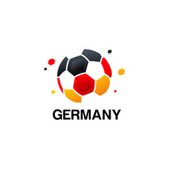 Abstract Germany Football Logo designs vector, Soccer championship banner vector