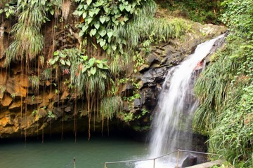 Annandale waterfall on the Caribbean island of Granada