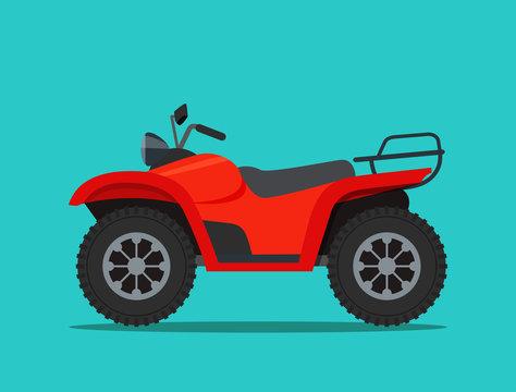 ATV motorcycle isolated. Vector flat style illustration