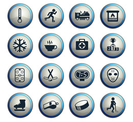 ice rink icon set