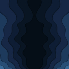 Abstract blue wavy background.