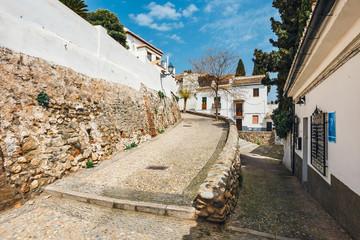 Photo sur Aluminium White houses in the Albaicin district in Granada, Spain
