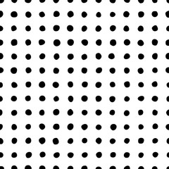 Seamless pattern of dots of irregular shape.