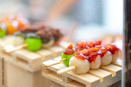 Mitarashi Dango Dango Japanese Dessert Dumpling And Sweet Made