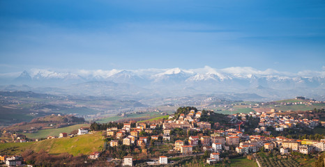 Panoramic landscape, Italian countryside