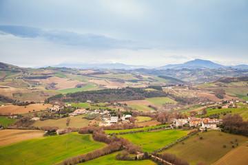Rural panorama of Italian countryside