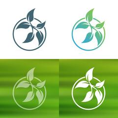 Abstract flower logo. Foliate decorative element.
