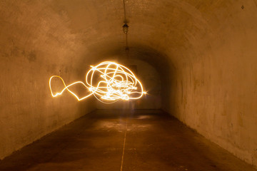 drawing with light on a long exposure