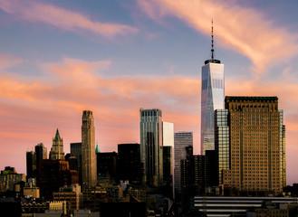 Manhattan, New York City, USA Sunset