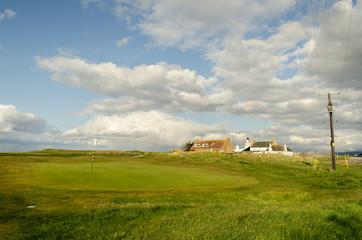 Golf fields. Scottish landscape. Scotland, Great Britain