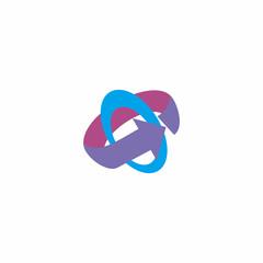 circle with arrow abstract logo icon