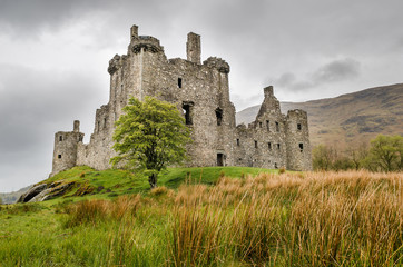 Scottish castle medieval. Scotland, Great Britain