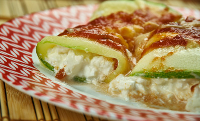 Zucchini Ricotta Manicotti