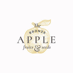 The Bronze Apple Abstract Vector Sign,