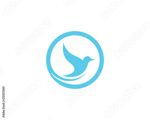 bird dove logo template vector illustration app stock image and