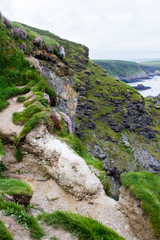 Dramatic landscape of Southern Irish Coastline in late spring