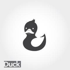 icon duck, duck logo, simple duck