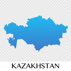 Kazakhstan map in Asia continent illustration design