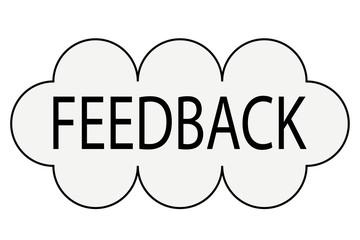 Nube gris de feedback.