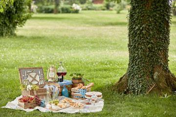 Poster Picnic Healthy outdoor living with a tasty picnic lunch