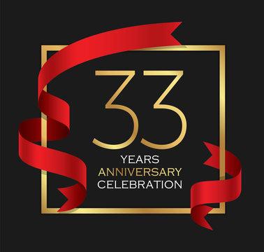 33rd years anniversary celebration background