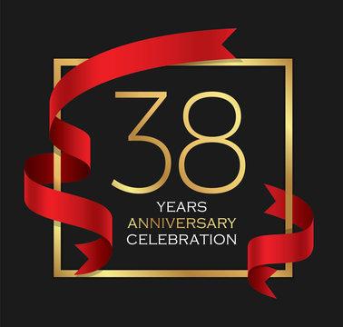38th years anniversary celebration background